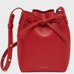 Mansur Gavriel Red Bucket Bag Crossbody